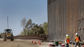 US Border Wall Yuma Construction