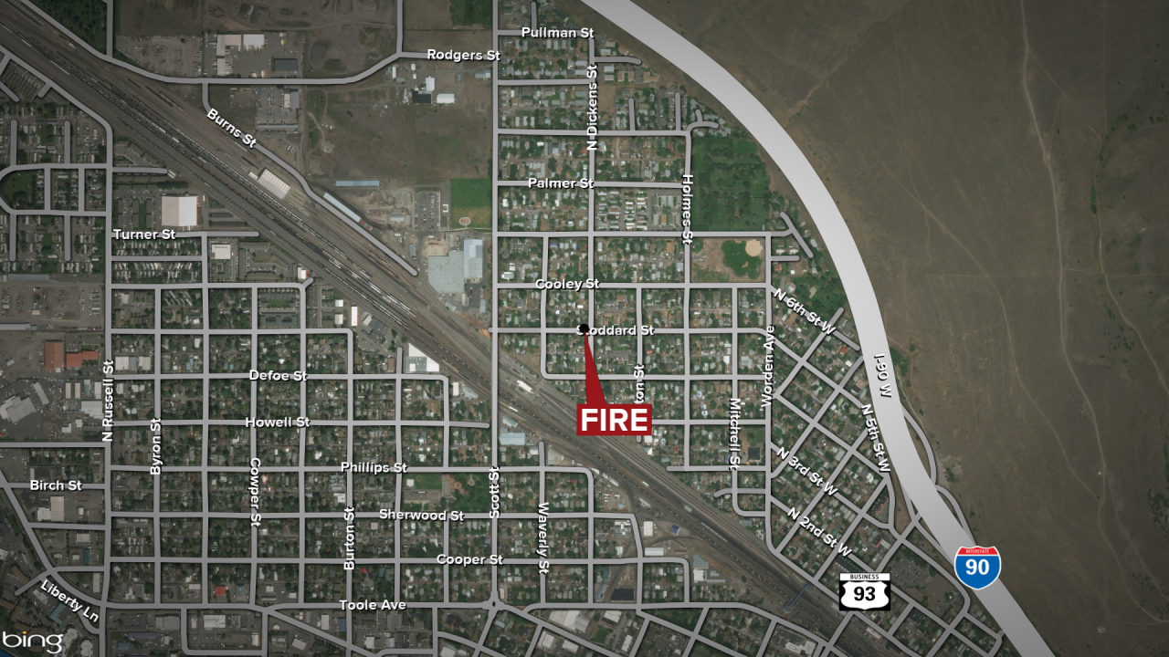Missoula Stoddard Street Fire Map