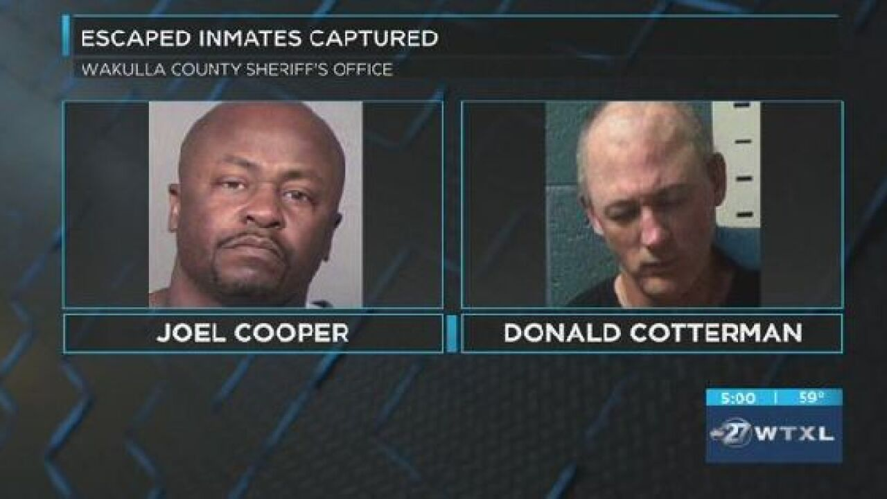 One of the captured Wakulla County inmates is back in Florida