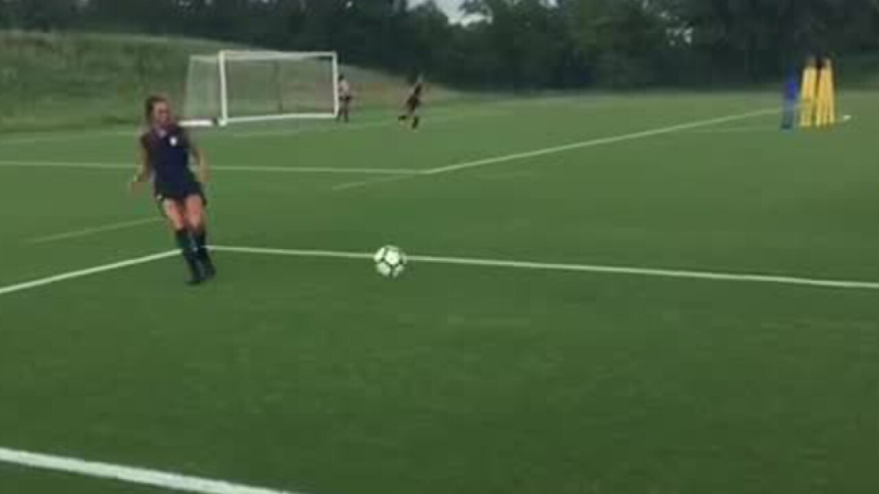 US Women's U-17 World Cup team training in KCK