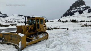 Going to the Sun Road plowing