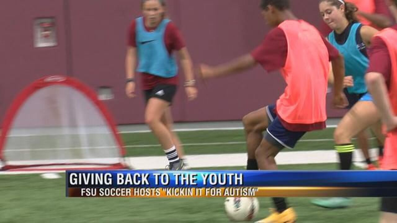 """""""Kickin It for Autism"""" with Noles Soccer Team and Autism Institute"""