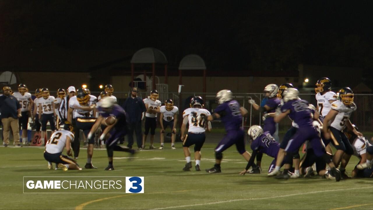 Laurel blocked field goal