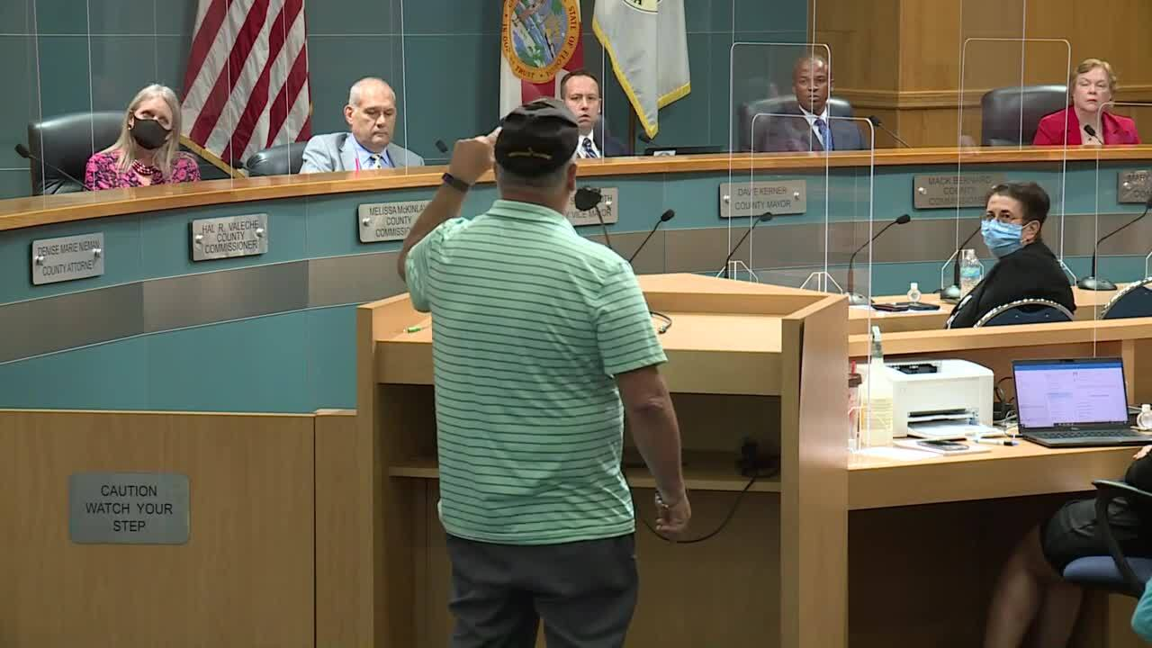 Butch Diaz yells at Palm Beach County commissioners, June 23, 2020