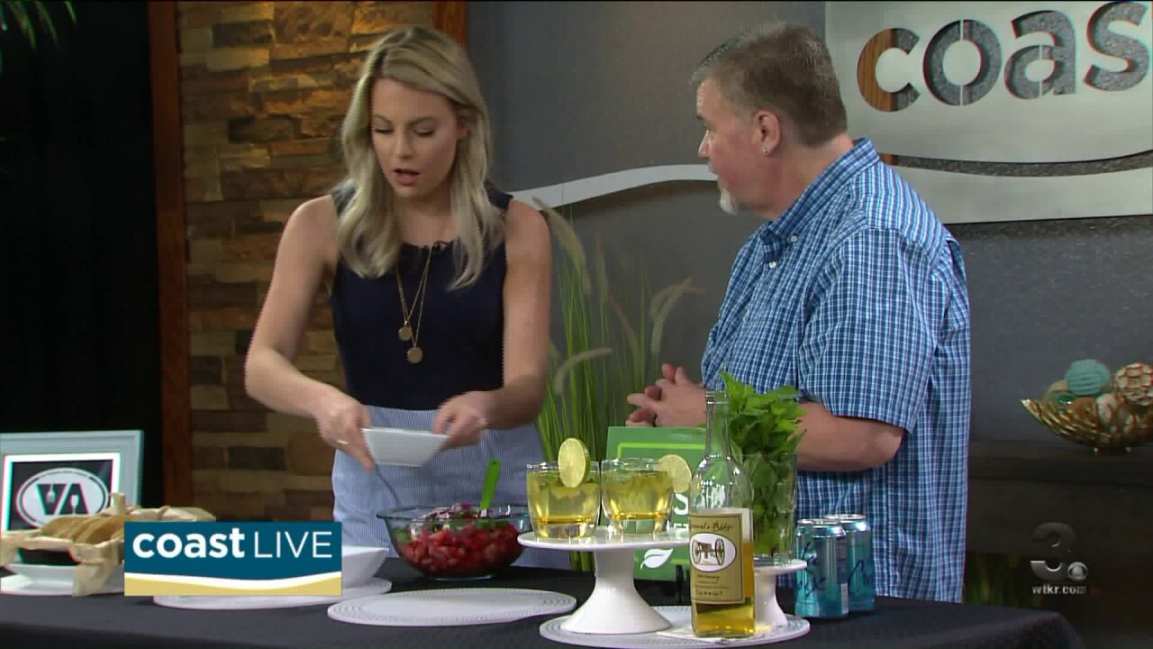 Refreshing with mojitos and strawberry salsa on Coast Live