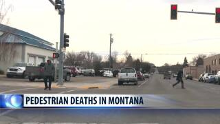 Pedestrian deaths are a small fraction of Montana's crash fatalities, but can be prevented