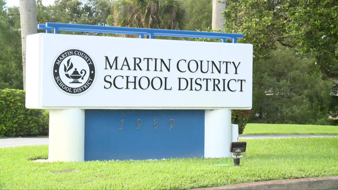 Martin County School District sign