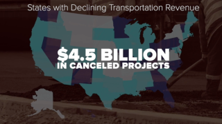 Transportation projects getting canceled as gas tax revenues decline