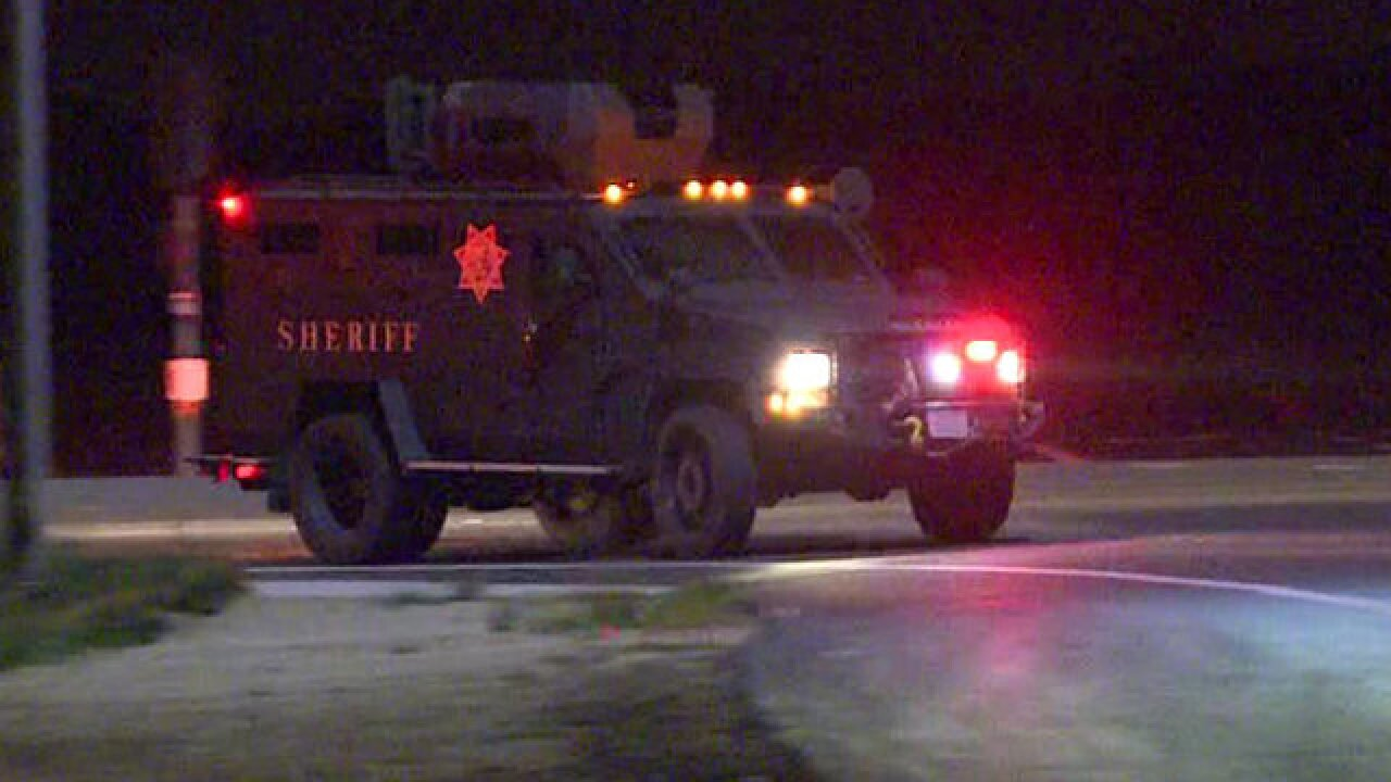 SWAT team searches for Ramona homicide suspect