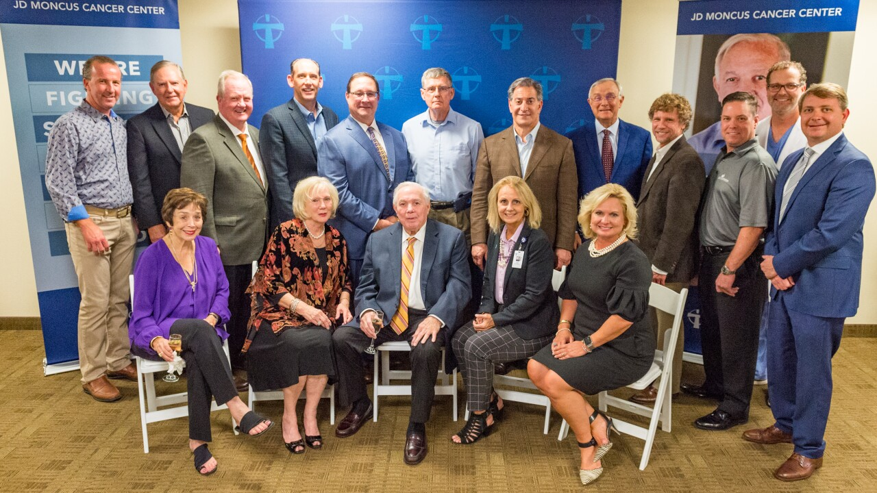 Jim and Ruth Moncus joined by the Our Lady of Lourdes Board of Directors 2018