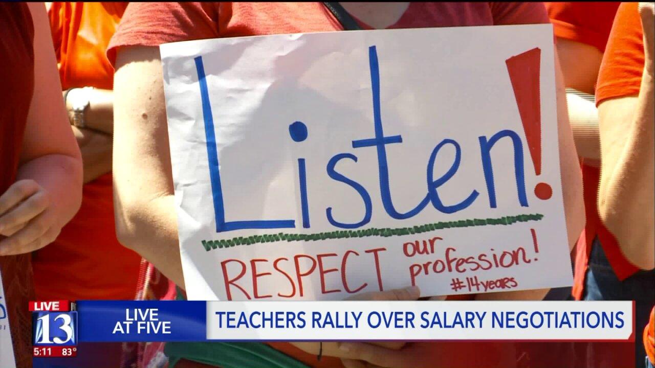 SLC teachers rally for payraises
