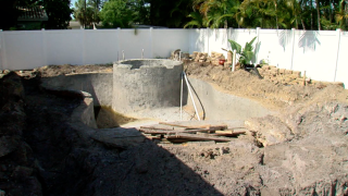 unfinished swimming pool