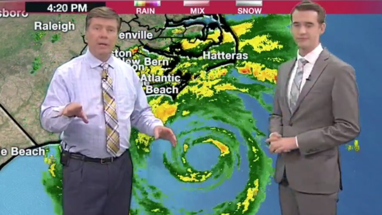 TV station forced to evacuate due to rising flood waters from Hurricane Florence