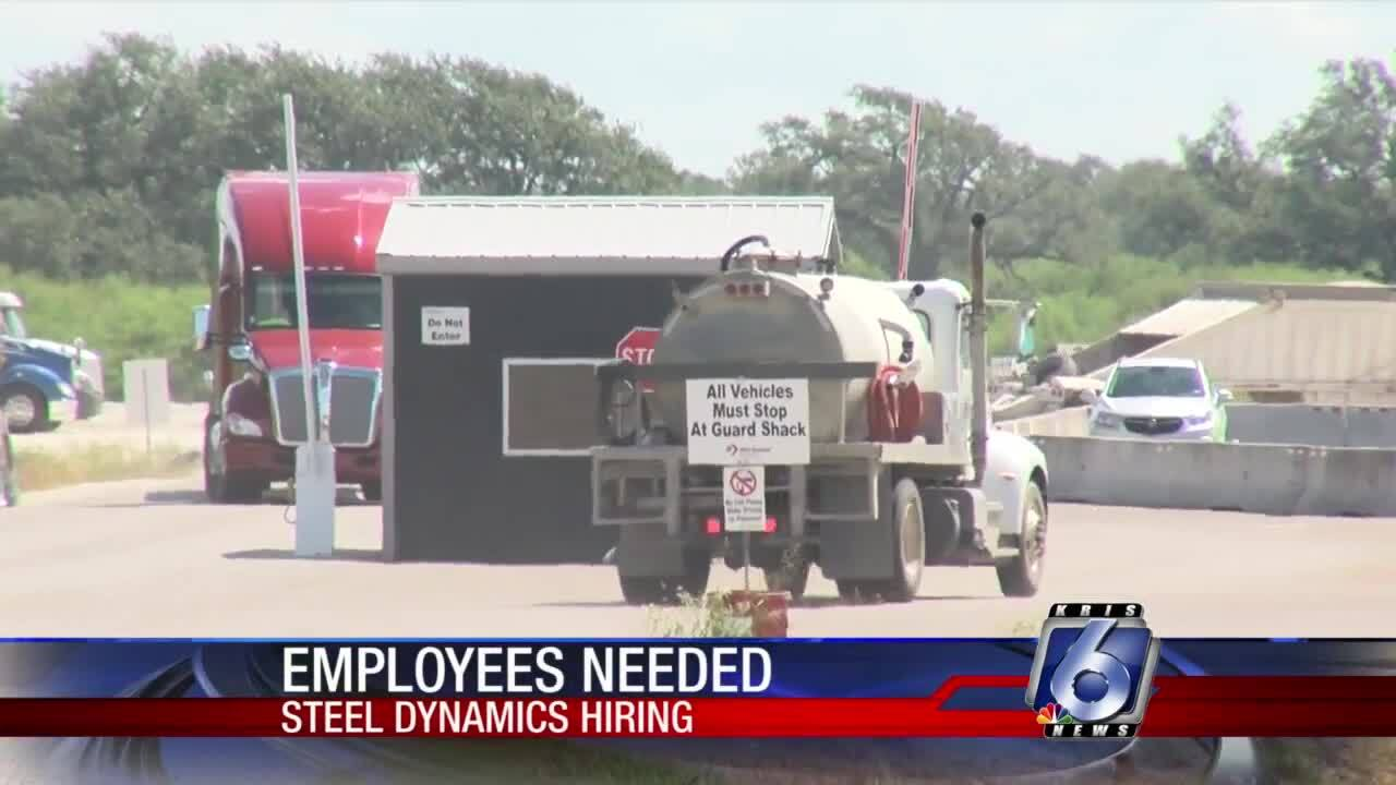 Employees are needed at the Steel Dynamics plant