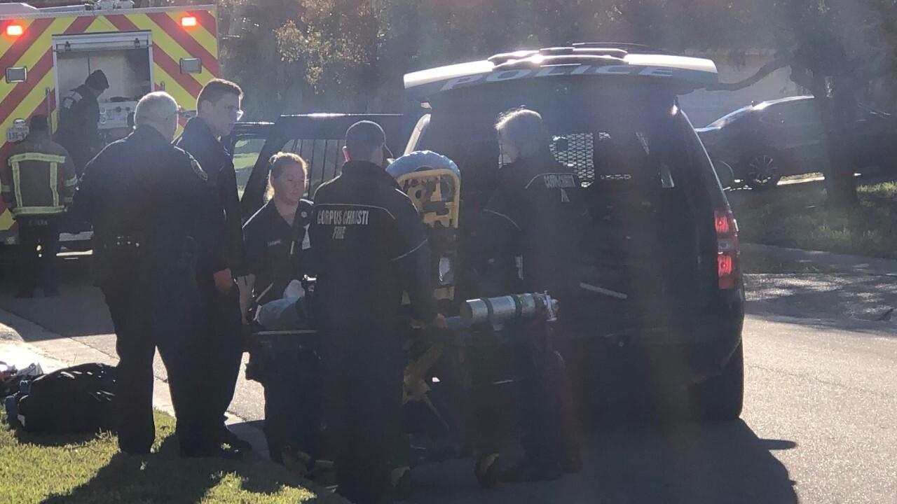 Fire department battles blaze on Jessica Drive on Dec. 18.