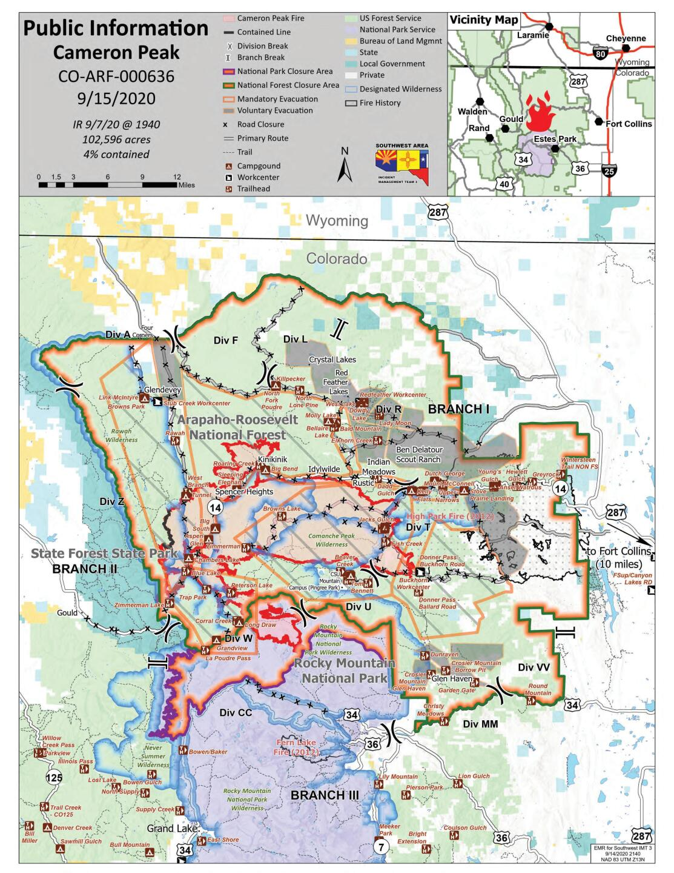 Cameron Peak Fire map_Sept 15 2020