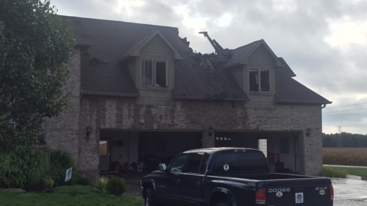 House fire sparked by lightning strike