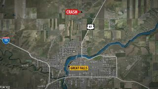 2 people dead in overnight crash just north of Great Falls