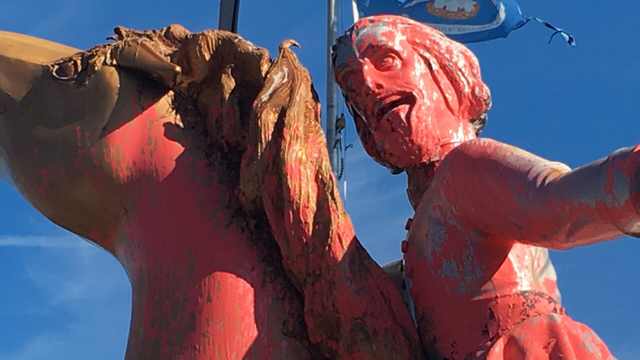 Nathan Bedford Forrest Statue Vandalized With Pink Paint
