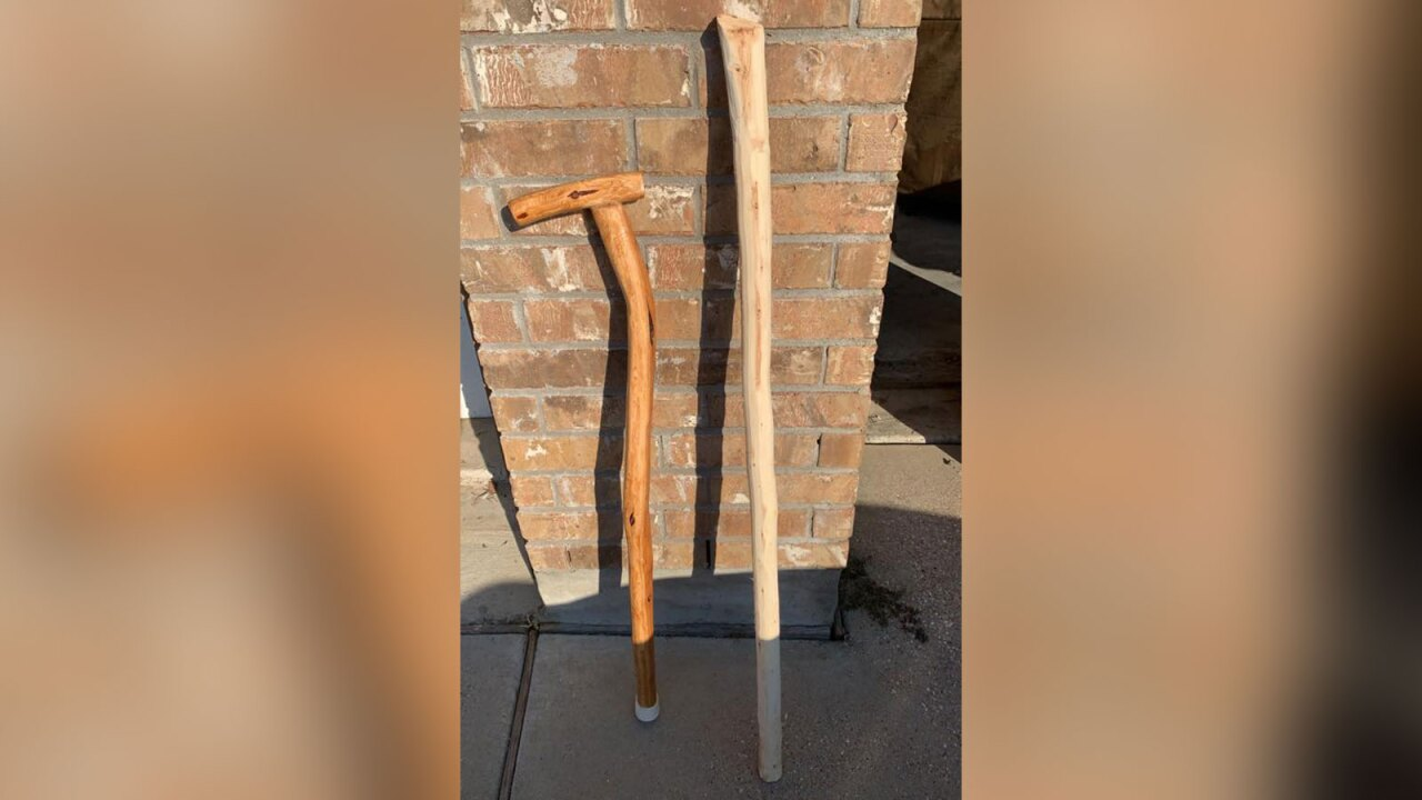 Texas man makes canes for veterans using hundreds of donated Christmas trees