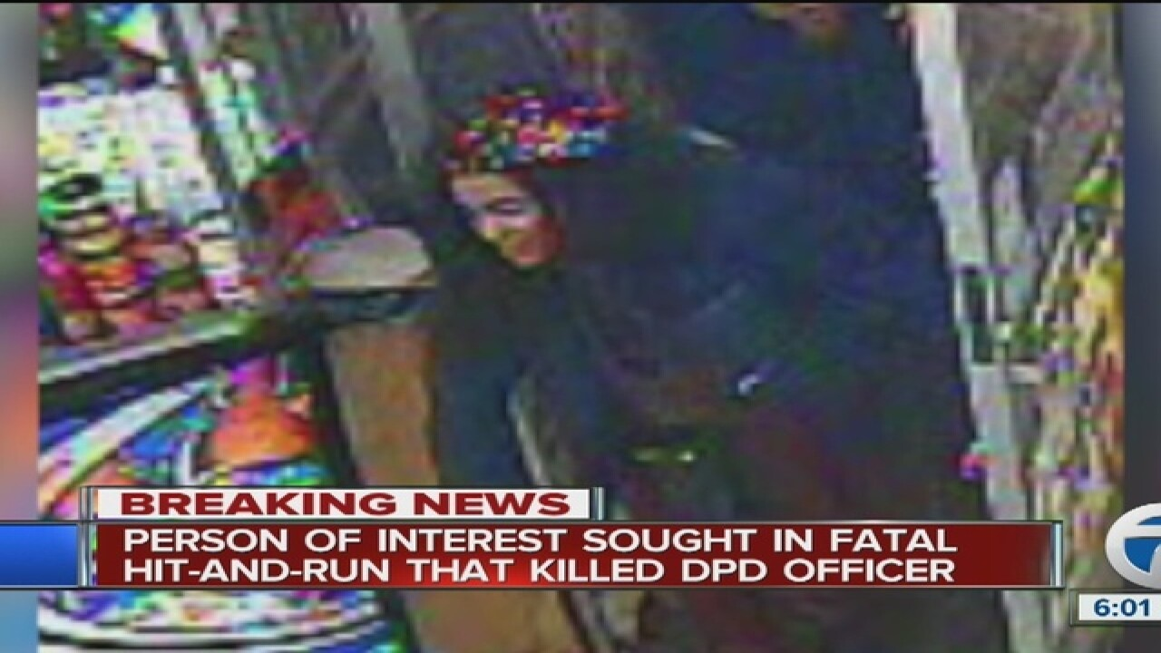 Female person of interest wanted in cop's death