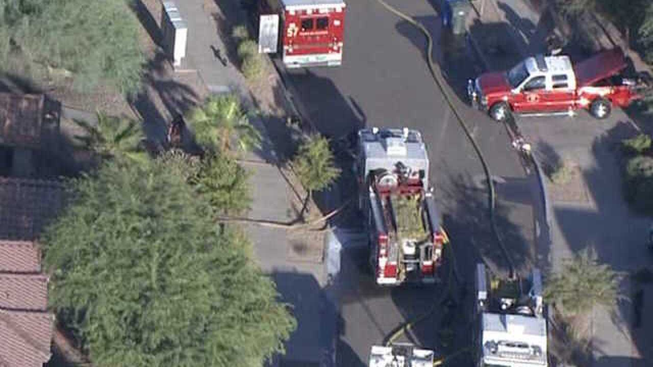 4-year-old pulled from burning home in PHX