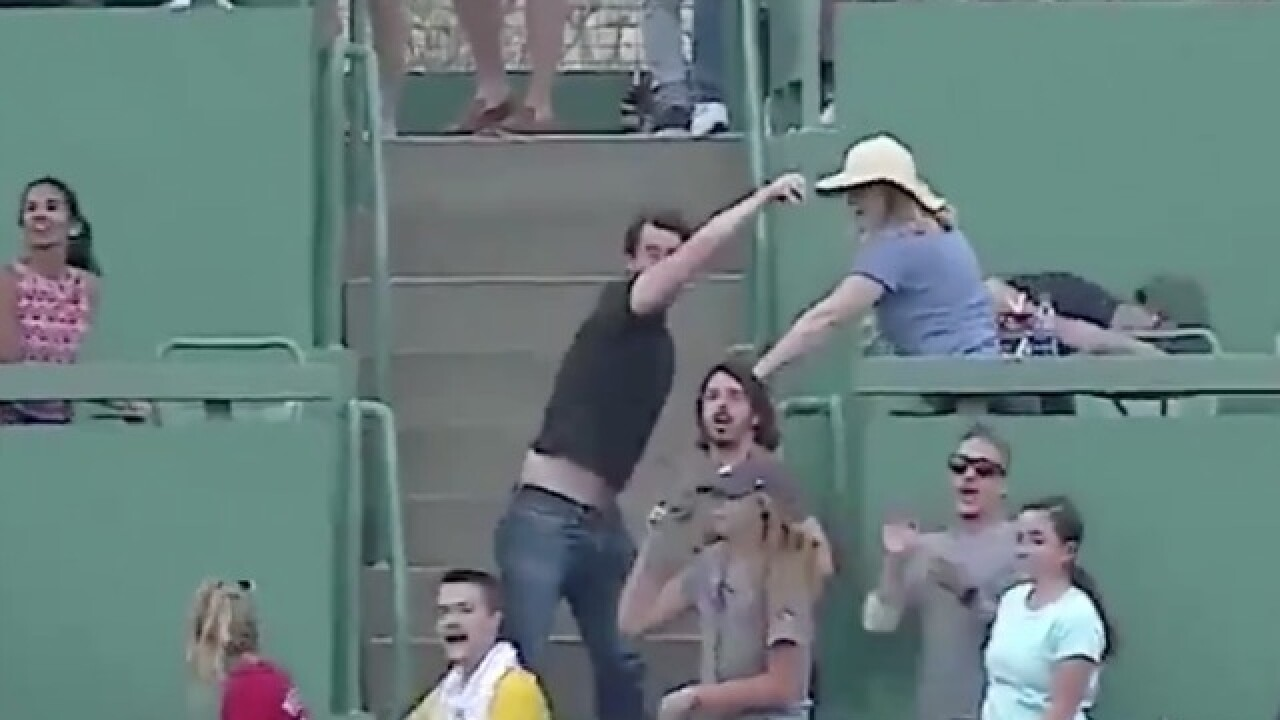 VIDEO: Fan hits player with ball he just hit a home run with