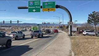 What's Driving You Crazy?: Two exit lanes to north I-25 from Founders Parkway in Castle Rock