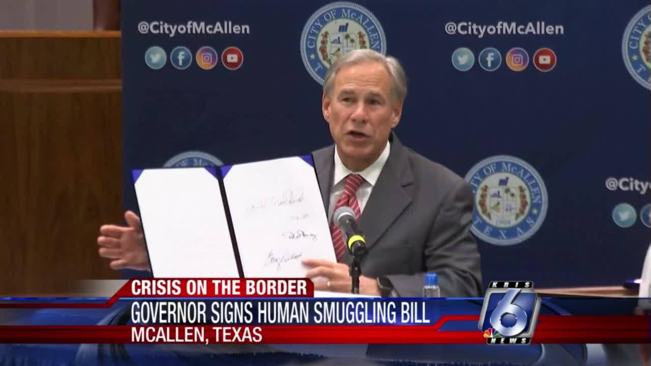Gov. Greg Abbott signs new human smuggling bill