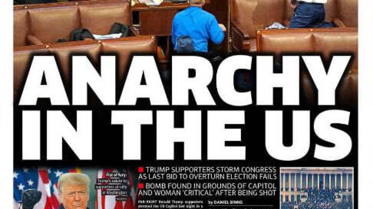 World Media Coverage of US Capitol Breach