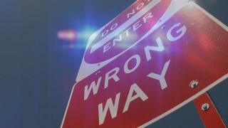 Wrong-way signs