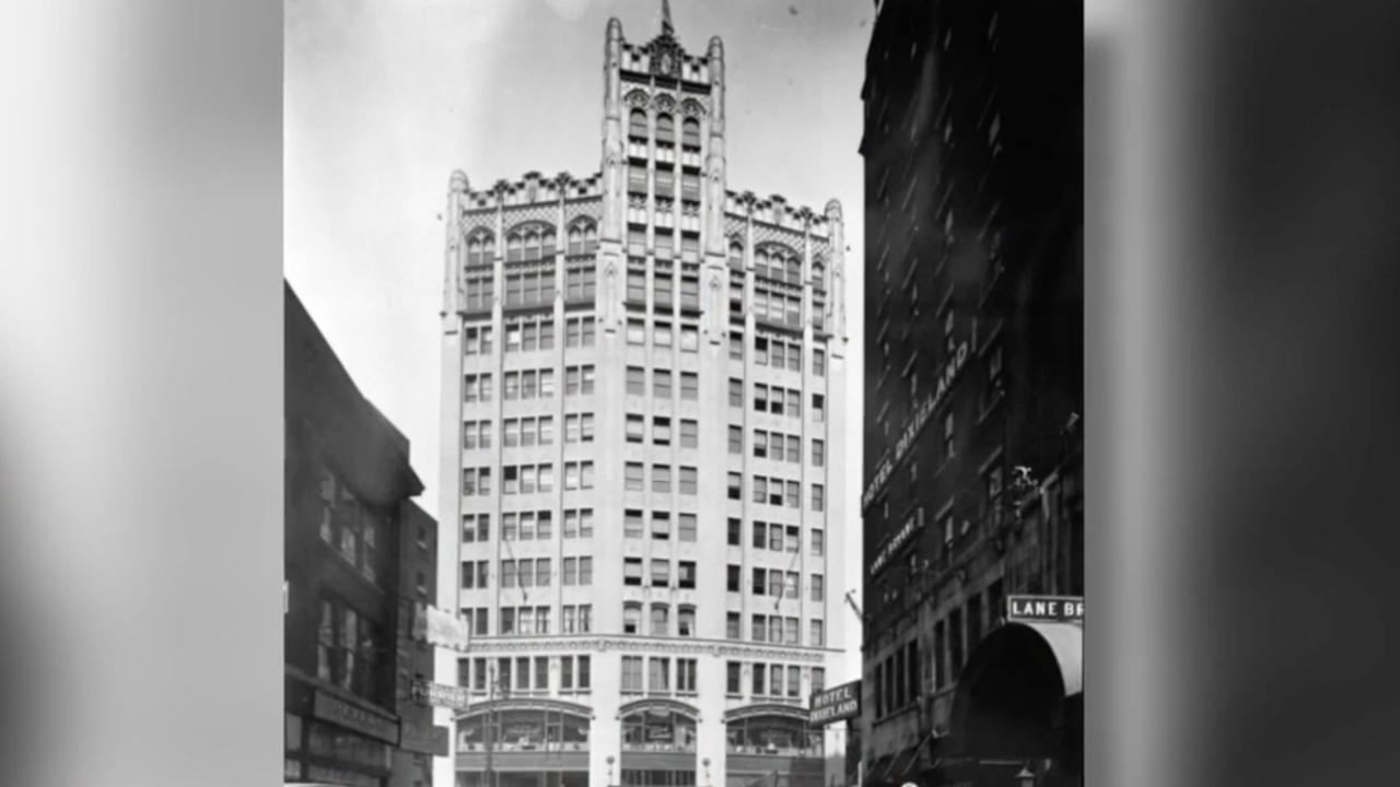 detroit metropolitan building old photo