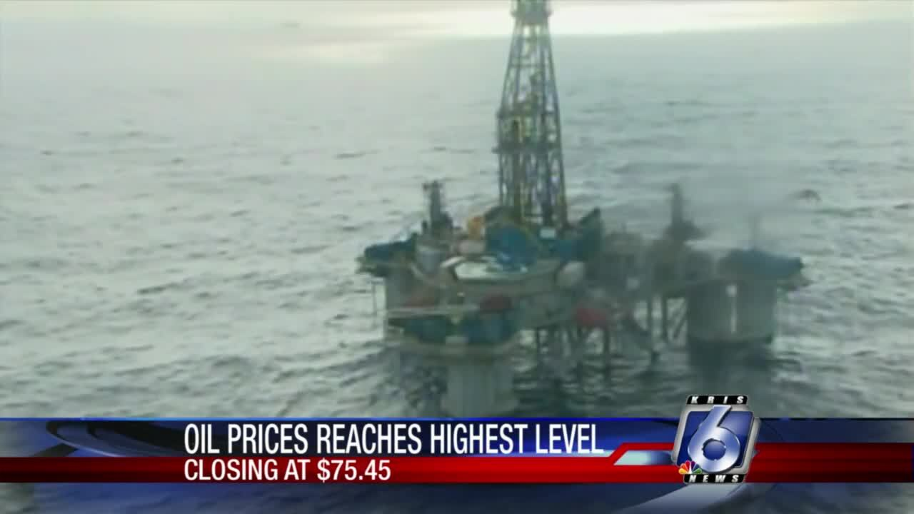 Oil prices soar to highest level in nearly three years