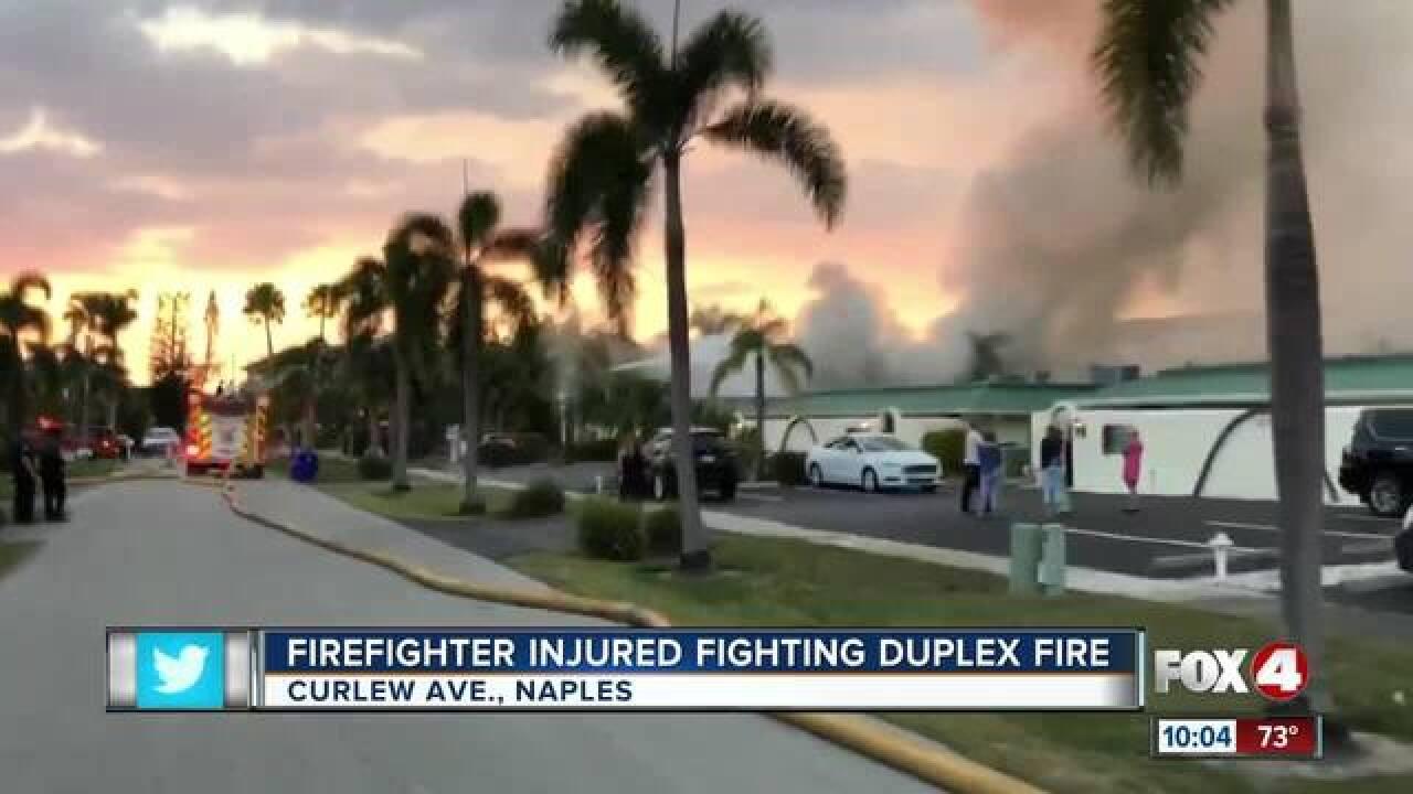 Crews battle fire at Naples apartment complex