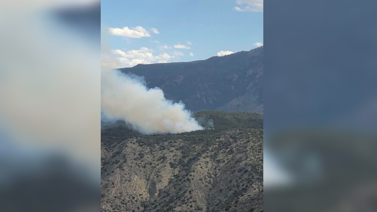Fire burning west of Canon City