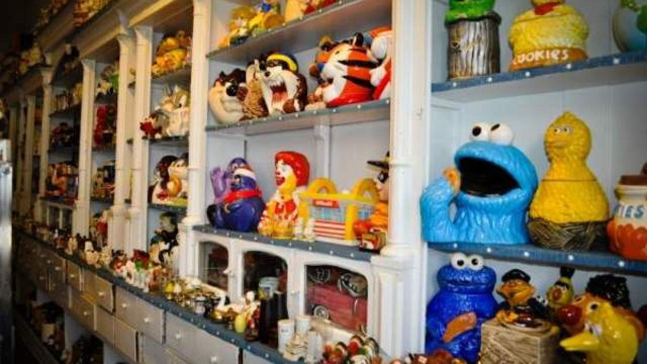 Woman holds record for most cookie jars