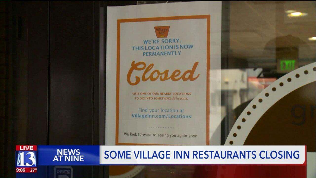 Several Village Inn restaurants across Utah closesuddenly