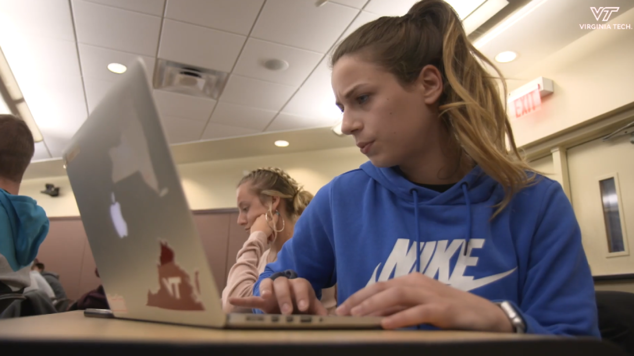 Virginia Tech students wager grades during NCAA Tourney project