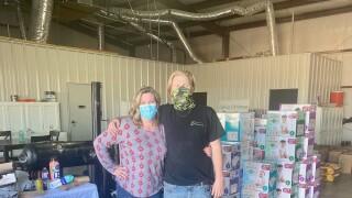 Marnel Martinez and her son Colin in Odessa, TX