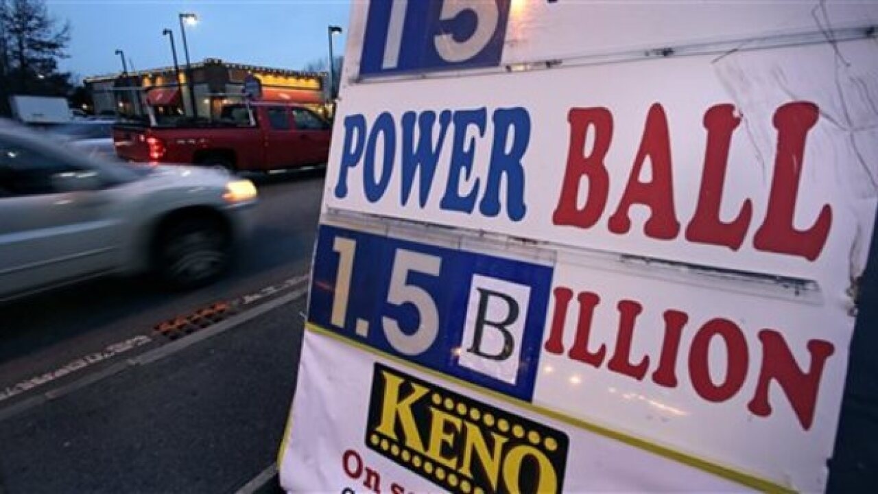 Powerball prize up to $1.5B, could grow