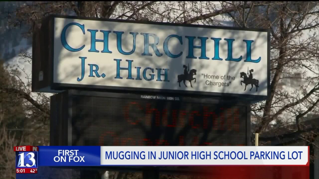 Police: Juvenile mugged near Churchill Jr. High School in Salt Lake City, police search for suspects