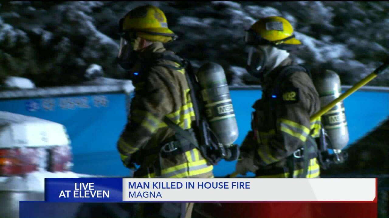 One man is dead in early morning house fire inMagna