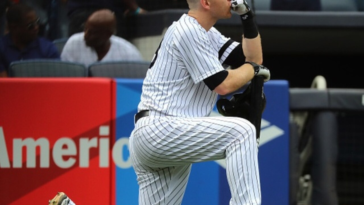 Todd Frazier becomes emotional after his 105-mph foul ball struck a toddler at Yankee Stadium