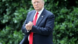 President Trump arrives Wednesday morning