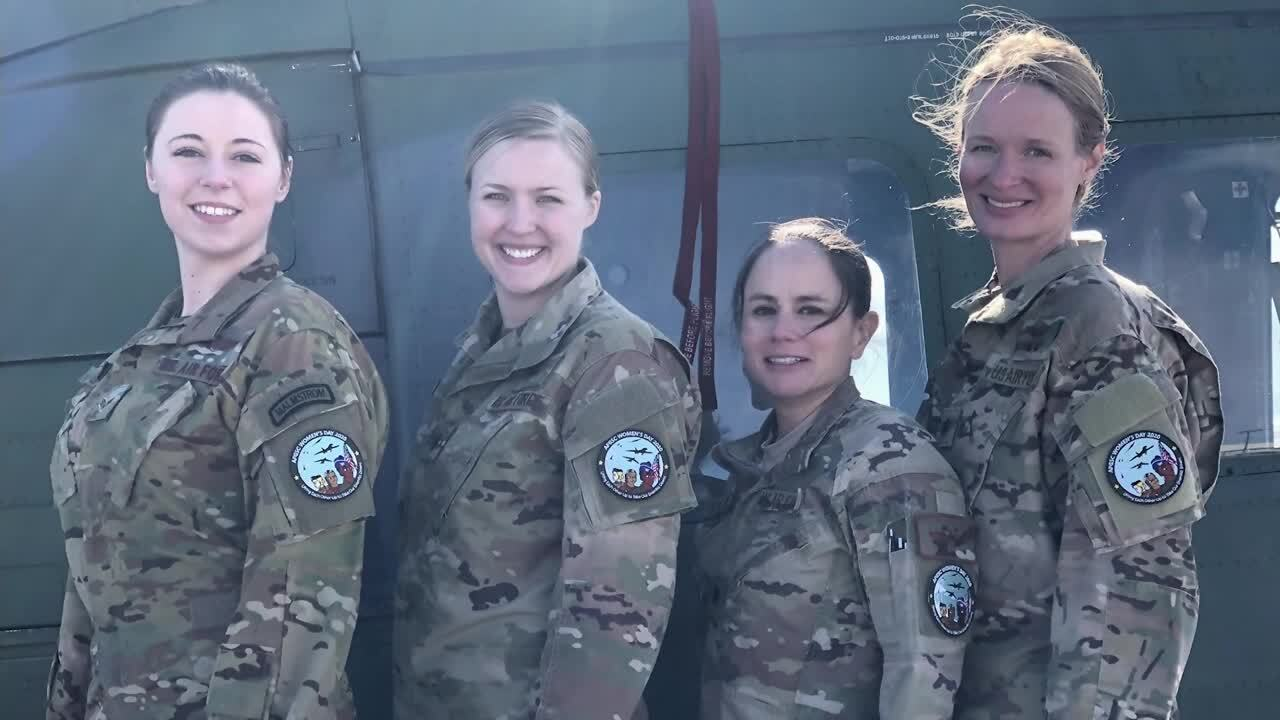 Female flight crew takes to the sky at Malmstrom AFB