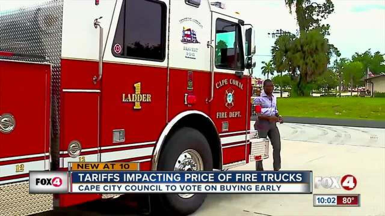 Tariffs taking a toll on local fire departments