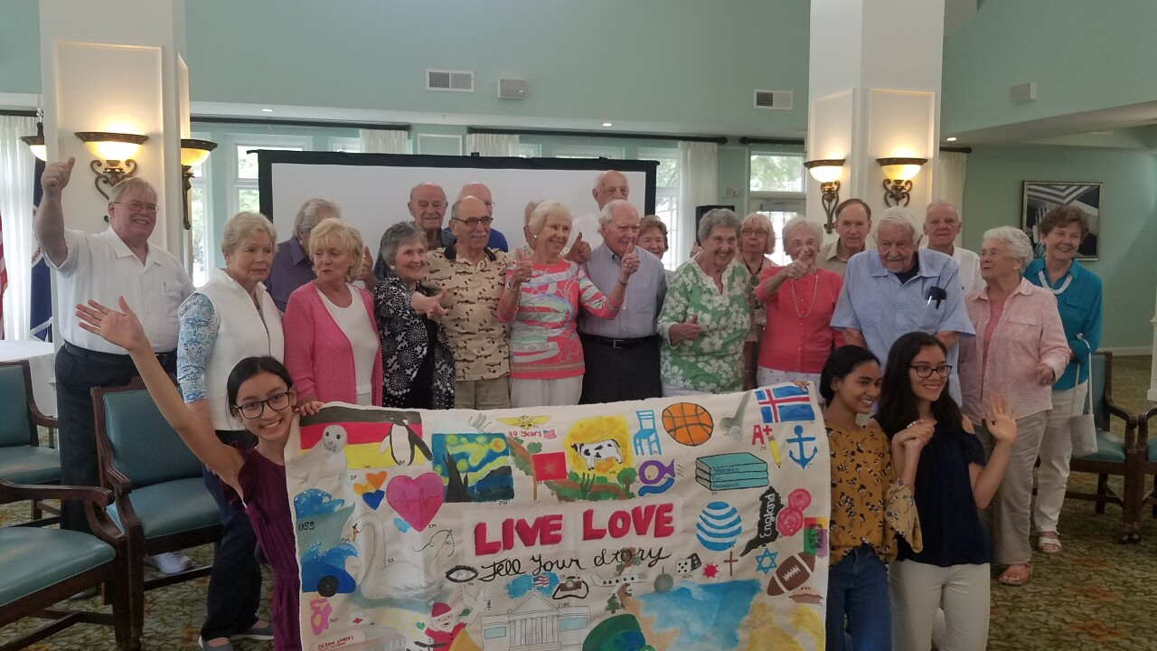 Seniors at Virginia Beach retirement community see their stories come to life through students' artwork