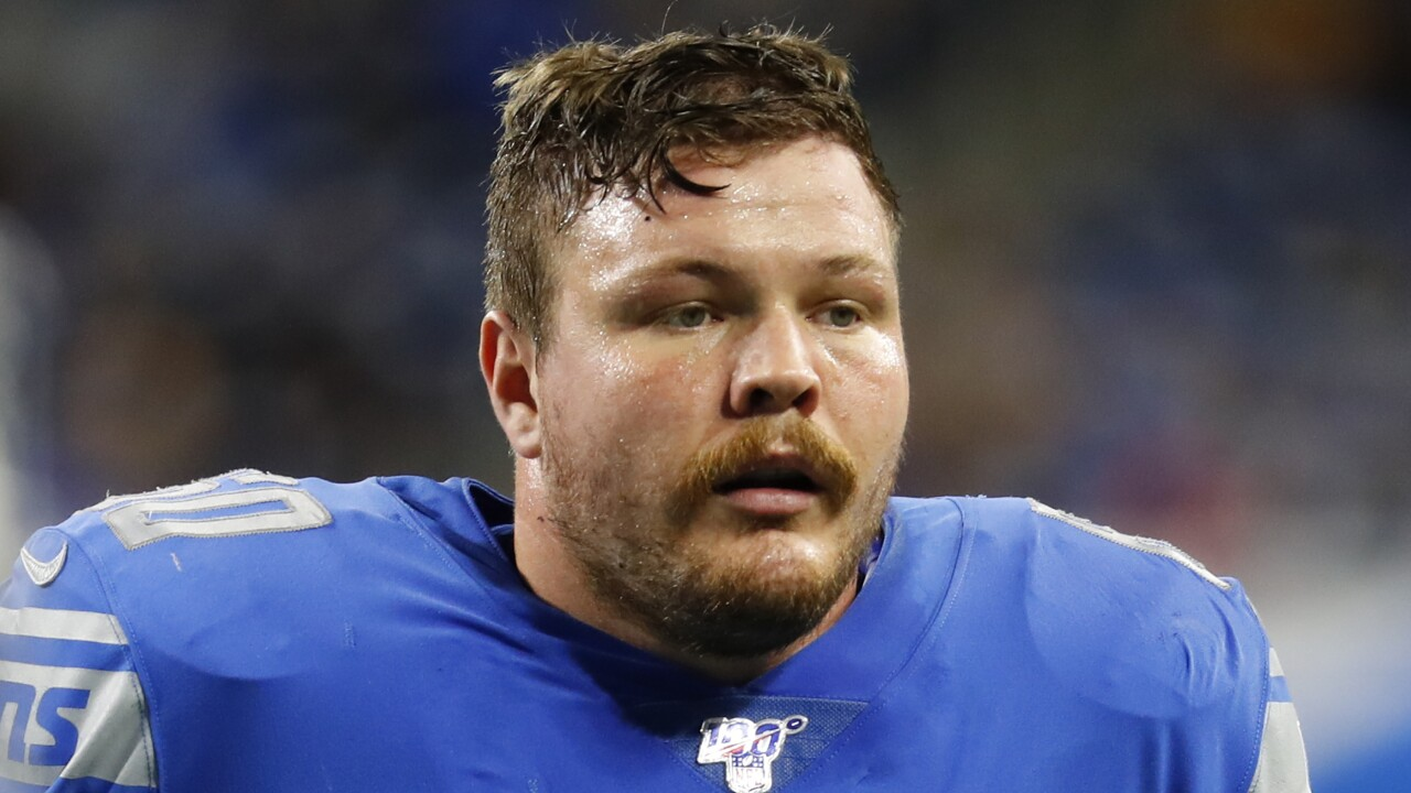 Former Lions OL Graham Glasgow agrees to four-year, $44 million deal with Broncos