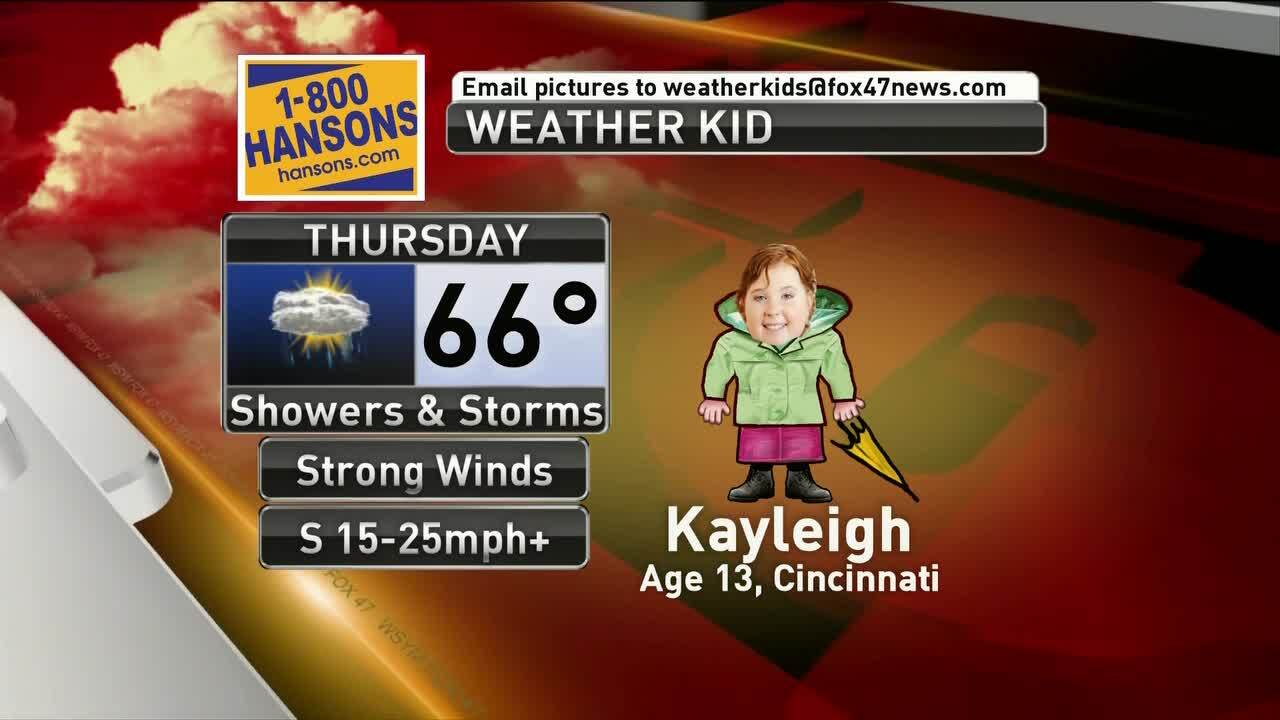 Weather Kid - Kayleigh - 3/13/19a