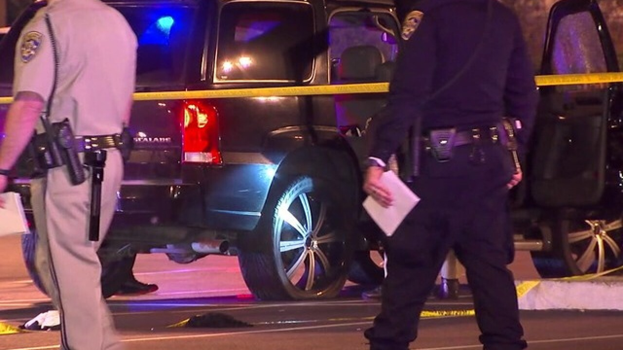 SUV riddled with bullets on I-8, 2 hurt